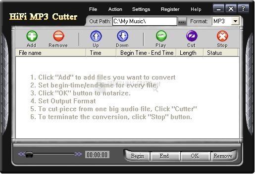 Pantallazo HiFi MP3 Cutter