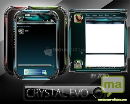 Pantallazo Skin Crystal EVO