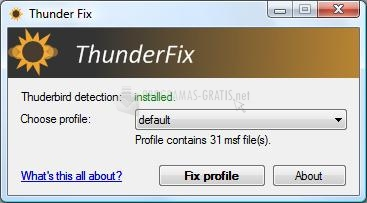 Pantallazo ThunderFix