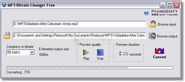 Pantallazo MP3 Bitrate Changer