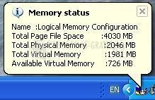 Pantallazo Memory Checker
