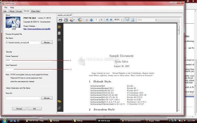 Pantallazo PDF Exploiter