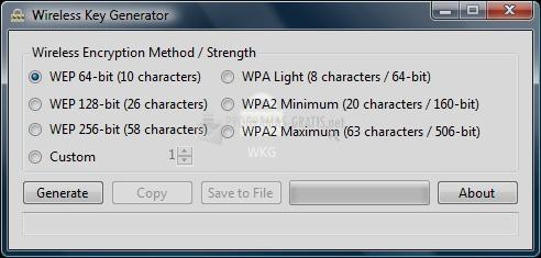 Pantallazo Wireless Key Generator