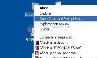 Pantallazo Command Window