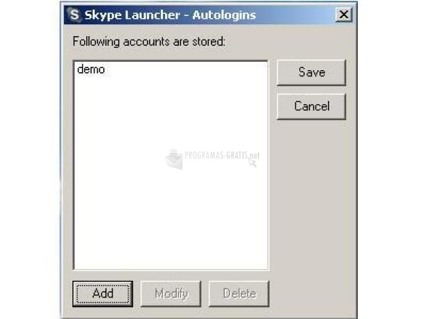 Pantallazo Skype Launcher