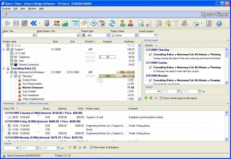 Pantallazo Xpert-Timer for MS-SQL or MySQL
