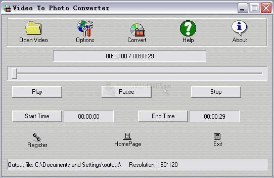 Pantallazo Video To Photo Converter