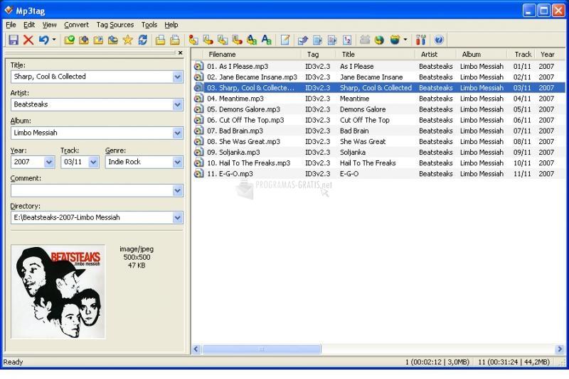 Pantallazo MP3 Tag