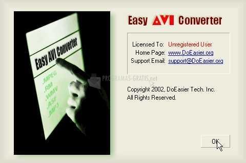 Pantallazo Easy AVI Converter