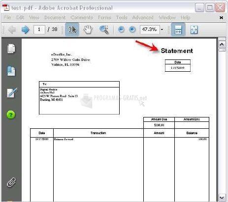 Pantallazo PDF Distributor