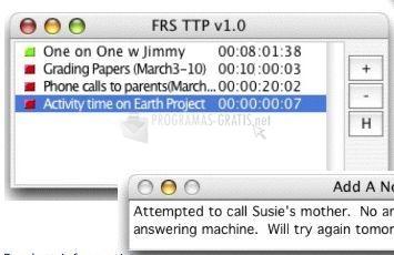 Pantallazo FRS Time Tracker Pro