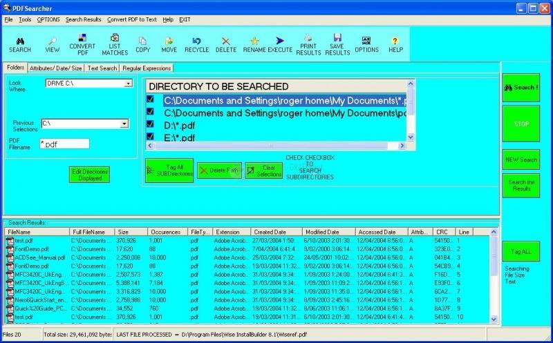 Pantallazo PDF Searcher