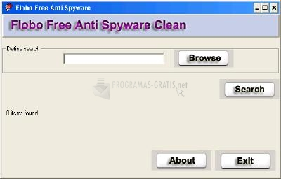 Pantallazo Flobo Free Anti Spyware Clean