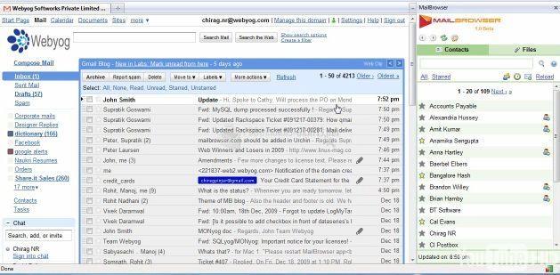 Pantallazo Mail Browser