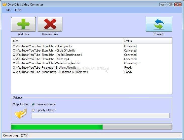 Pantallazo Free Video to AVI Converter