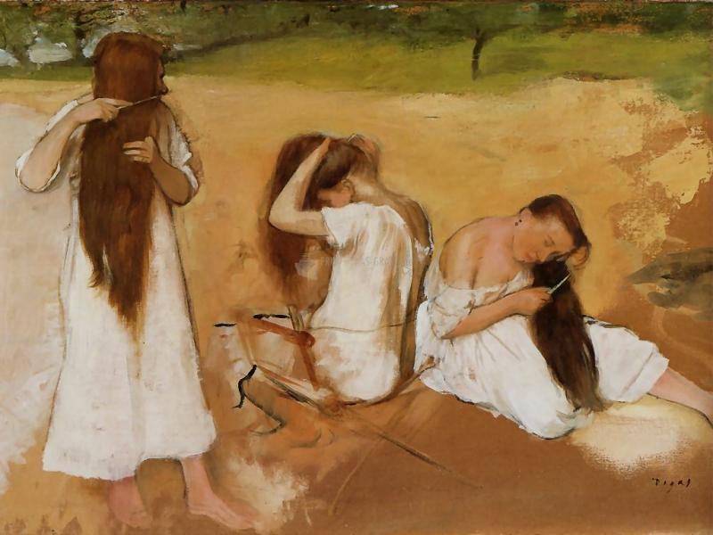 Pantallazo Women combing their hair