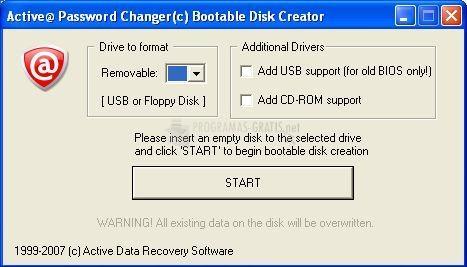 Pantallazo Bootable Floppy Creator