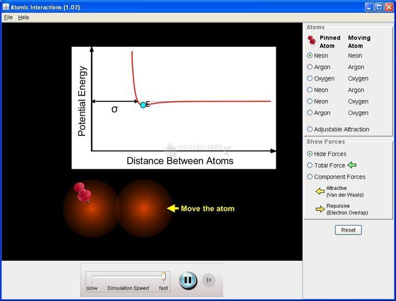 Pantallazo Atomic Interactions