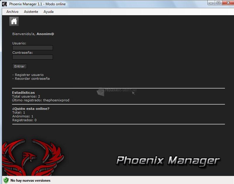 Pantallazo Phoenix Manager