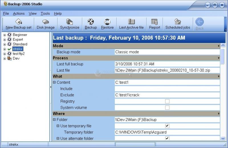 Pantallazo Backup2006 Pro