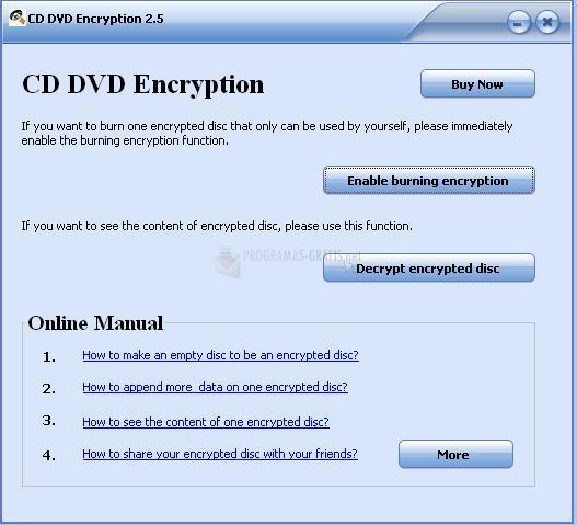 Pantallazo Gili CD DVD Encryption