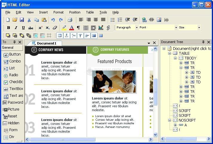 Pantallazo Freelabs HTML Editor