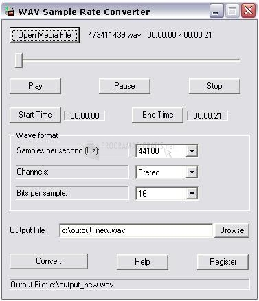 Pantallazo Wav Sample Rate Converter