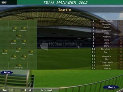 Pantallazo Team Manager 2005