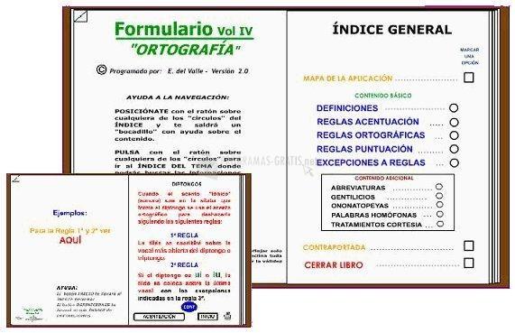 Pantallazo Formulario Ortografia