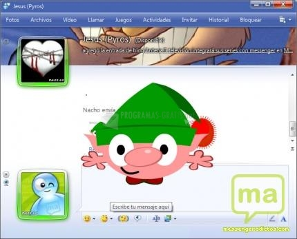 Pantallazo Elfo travieso MSN
