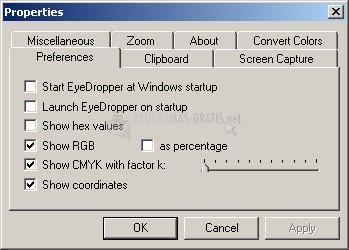 Pantallazo Eye Dropper