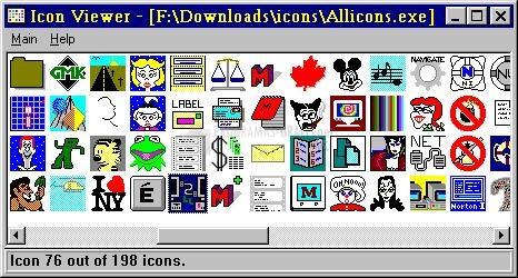 Pantallazo Icon Viewer