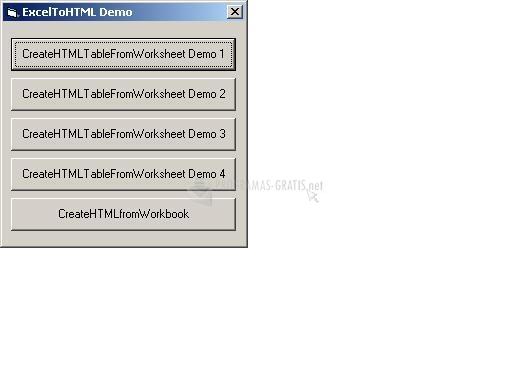 Pantallazo Excel To HTML ActiveX