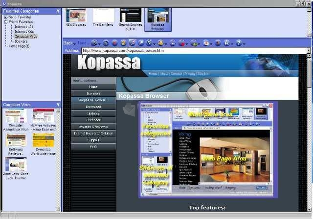 Pantallazo Kopassa Browser