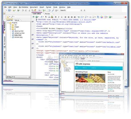 Pantallazo Free HTML Editor