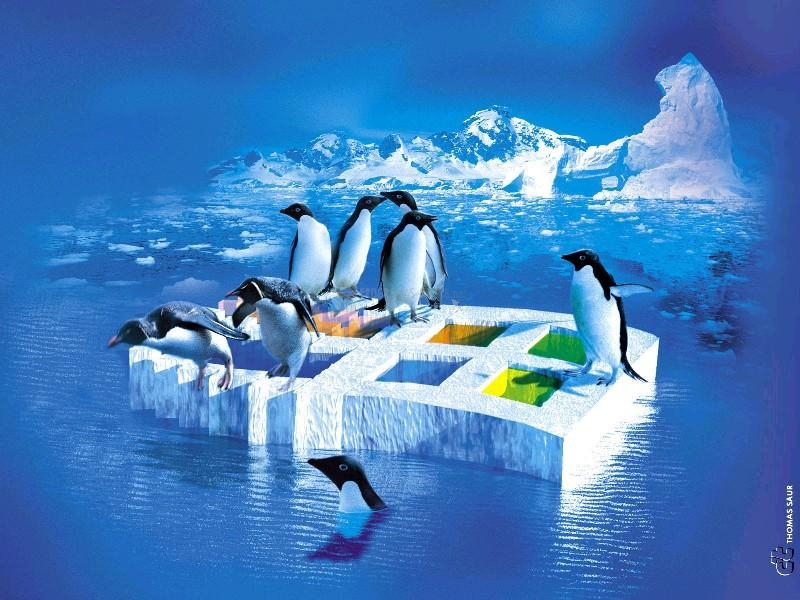 Pantallazo Linux en hielo