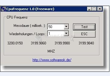 Pantallazo CPU Frequenz