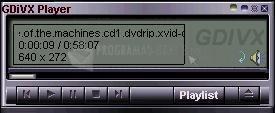 Pantallazo GDivX Zenith Player