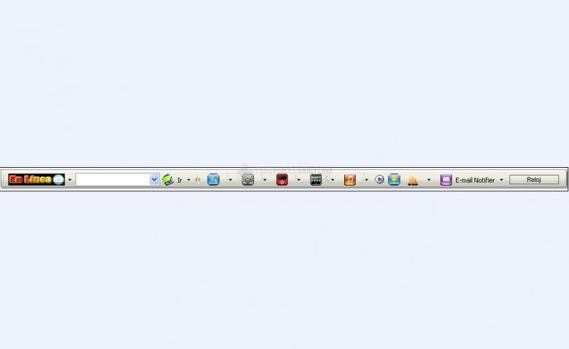 Pantallazo En línea Toolbar IE