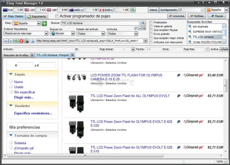Pantallazo eBay Total Manager