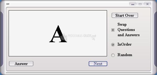 Pantallazo Alphabet Flash Cards