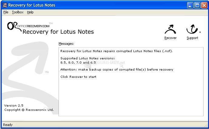 Pantallazo Recovery for Lotus Notes