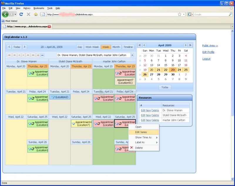 Pantallazo Org Calendar