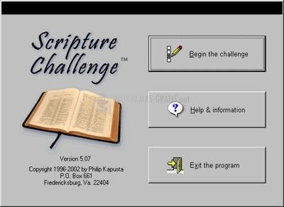 Pantallazo Scripture Challenge