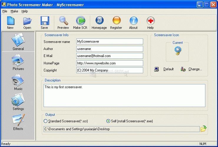 Pantallazo Photo ScreenSaver Maker
