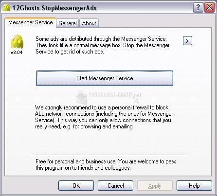 Pantallazo 12Ghosts Stop Messenger Ads