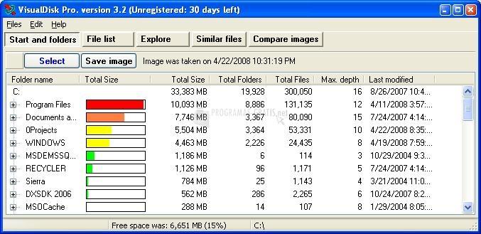 Pantallazo Visual Disk Pro