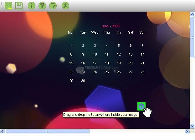 Pantallazo Ewall Calendar
