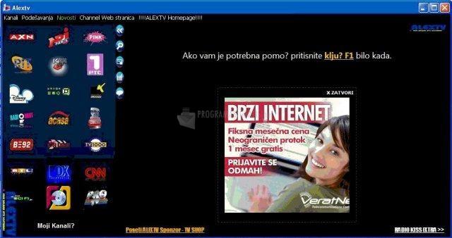 Pantallazo Alex TV