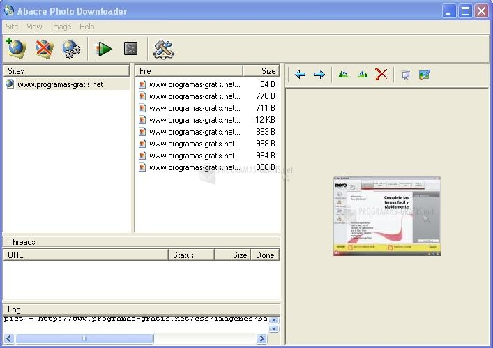 Pantallazo Abacre Photo Downloader